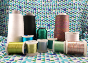 A variety of different kinds of threads.