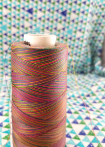 A Cone of Variegated Quilting Thread